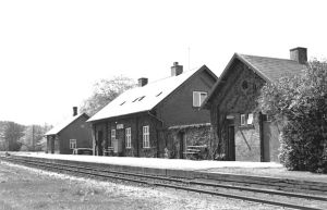 Østrup Station på Hobro-Løgstør banen.