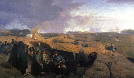 Dybbol_Skanse April 1864 maleri 1871 Valentin Sonne