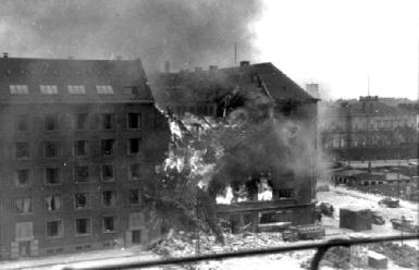 Shellhuset i brand