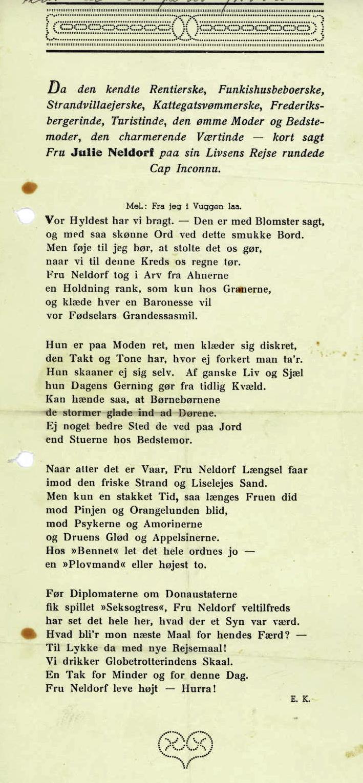 Julie Neldorf 1938-1