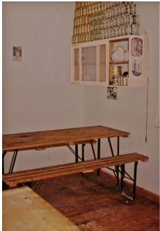 Hjørnet i spisestuen hvor juletræet var placeret