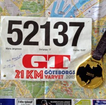Startnummer og medalje