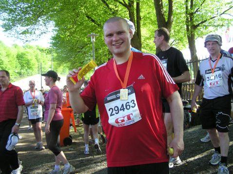 Ditlev kom først i mål - tilfreds med medalje og KEX chocolade