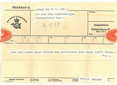 Telegram fra Elly