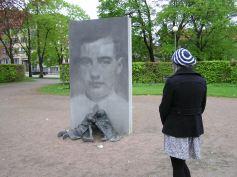 Besøg ved Wallenbergs mindesmærke