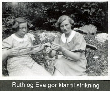 Eva og Ruth klar til at astrikke