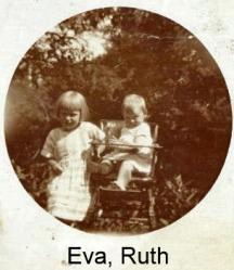 Eva og lillesøster Ruth