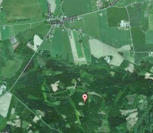 Stedet hvor Flyet styrtede ned