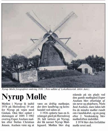 Nyrup Mølle - dengang Far fik malet korn