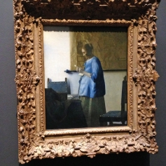 Woman in Blue Reading a Letter (14)