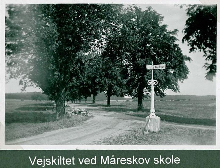 vejskilt ved Måreskov skole