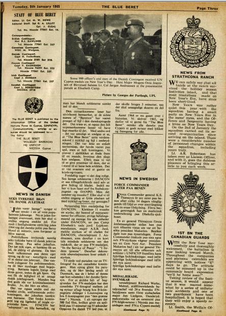 Medaljeparade Nytårsdag 1965