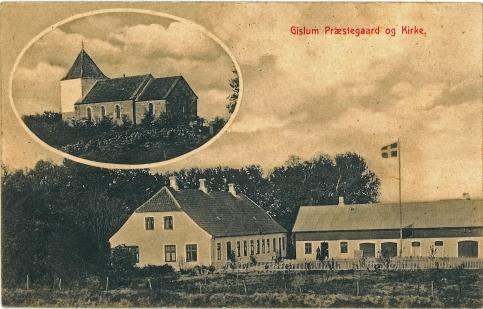 Gislum kirke og præstegård