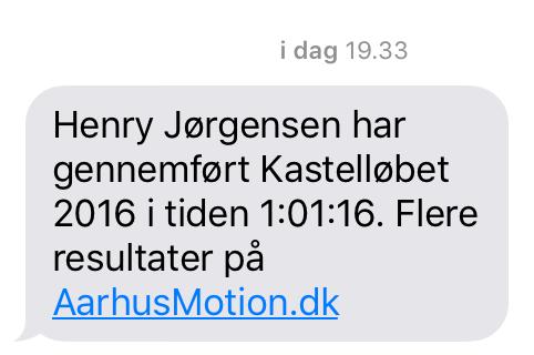 Resultat på SMS