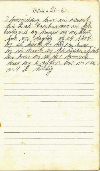Side fra dagbogen