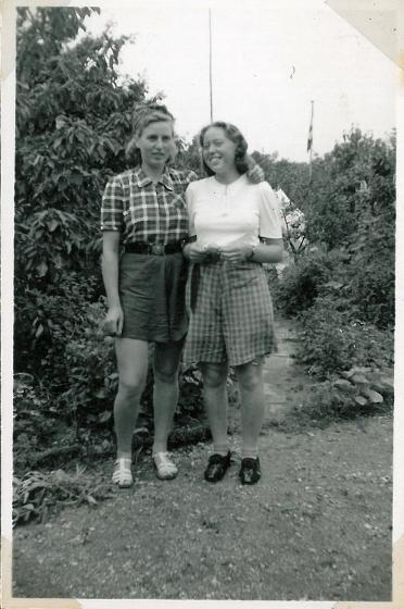 Eva og Ruth på cykelferie