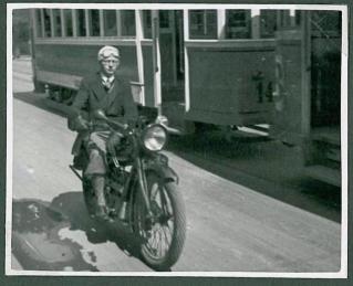 LP på motorcykel