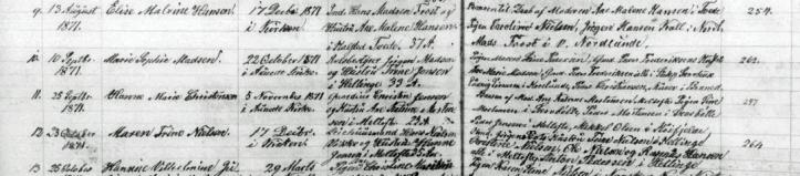 Marie Sophie madsen 1871