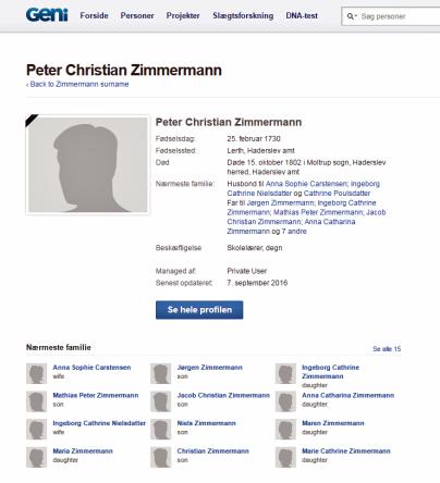 Peder Christian Zimmermenn 1730