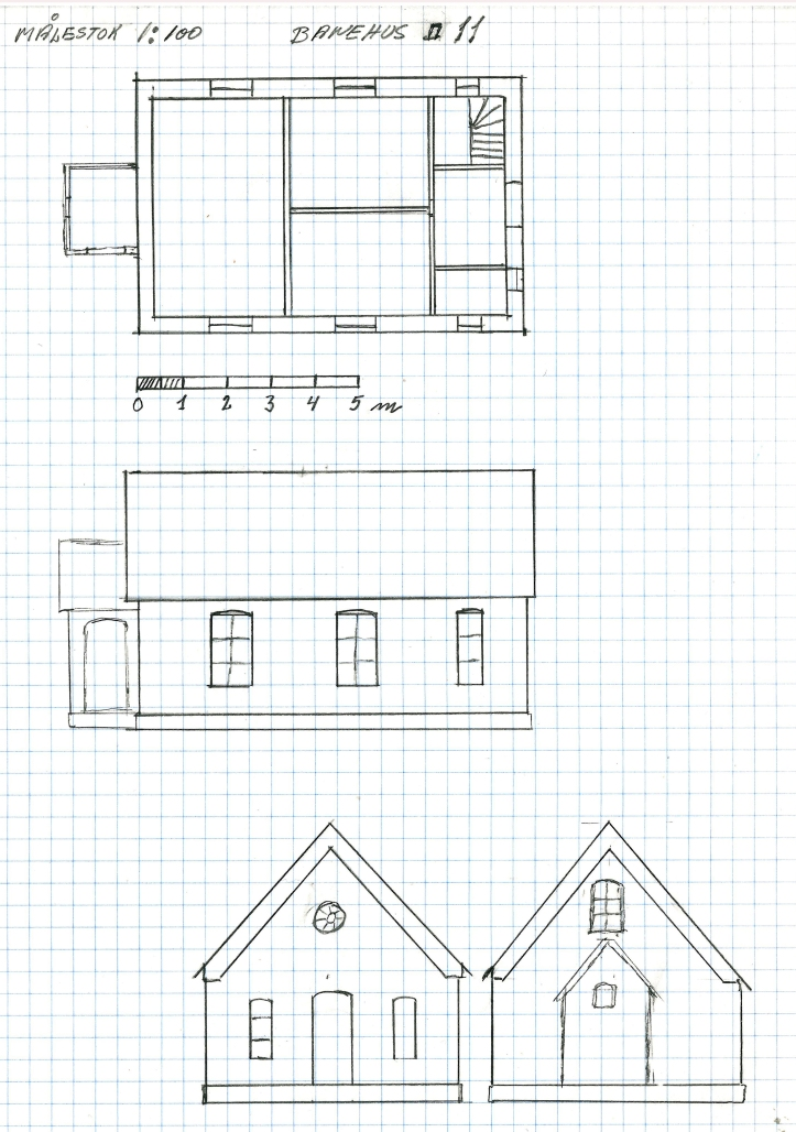 Vogterhuset 11 Nyrup tegning