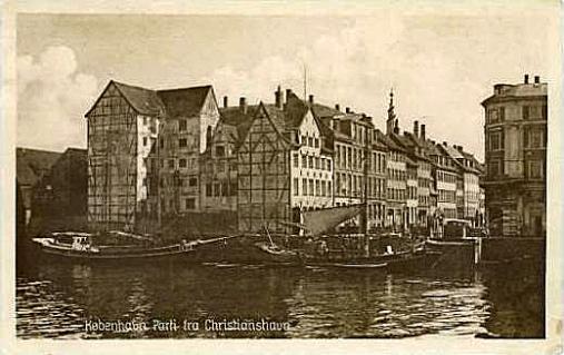 Brogade - Parti fra Chr.Havn - orig.postkort fra 1931