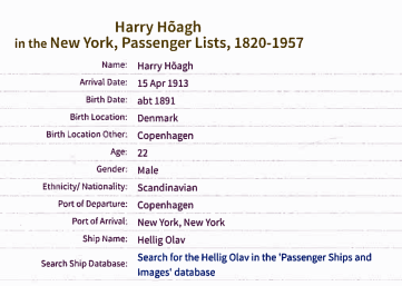 harry arive 15apr1913