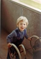 Andreas maser også med en barnevogn