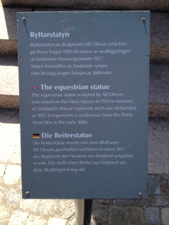 Forklaring til rytterstatuen