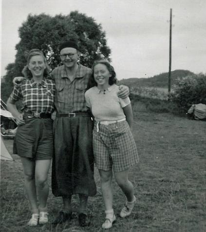 Eva og Ruth med LP-1