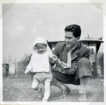 Torbens første skridt med morbror William