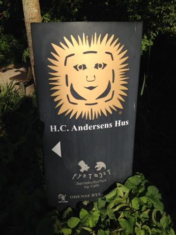 Vej til H.C. Andersens hus og museum