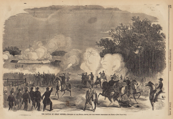 """The Battle of Great Bethel."" From Harper's Weekly. New York, June 29, 1861"