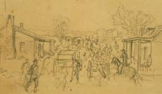 Big Bethel Alfred R. Waud, artist, June 10, 1861.