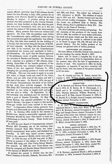 Nevada history 1881