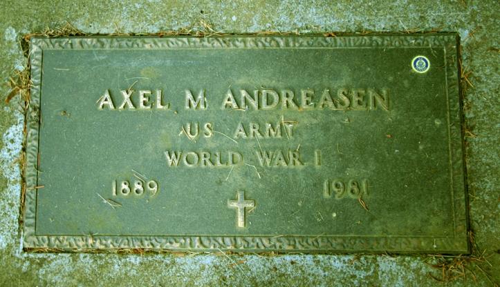 Axel Martin Andreasen headstone