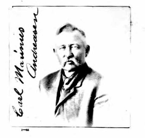 Carl Marinus Andreasen pasbillede 1921