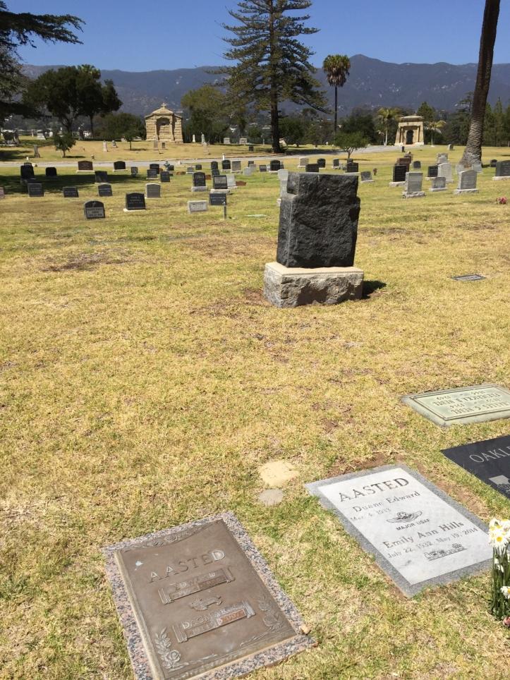 Edward & Dagmar headstone Santa Barbara