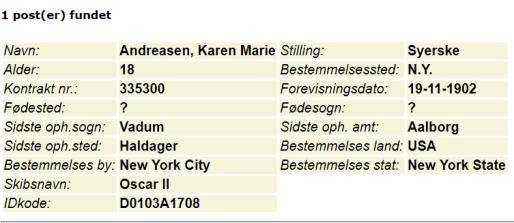 Karen Marie Andreasen DDD 1902