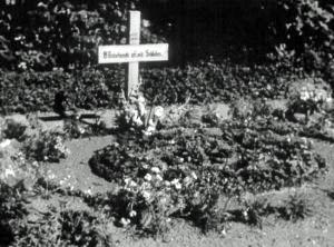 Hurtigt blev gravene dækket med blomster