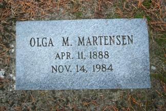 Olga Marensen gravsten