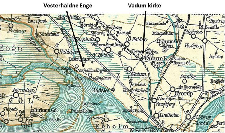 Vadum Vesterhaldne Enge 1900-1