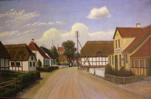Street to Stenstrup church