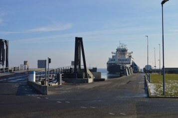 """Færgen """"Langeland"""" til Tårs"""