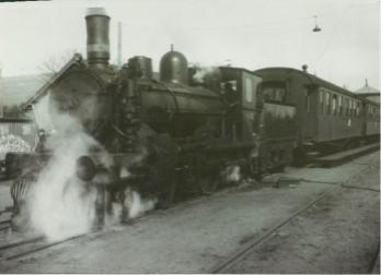 Train at Stenstrup Station