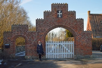 Indgang til Rødby kirkegård