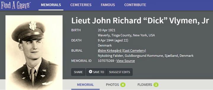 John R. Vlymen på Find a Grave