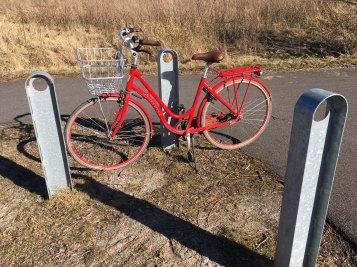 Cykelparkering ved Lystrup sø