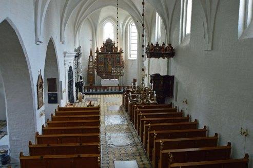 Øland kirke vue fra orglet