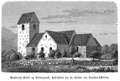 gunderup_kirke_to-hundrede-trc3a6snit-tegninger-fra-krigen-i-danmark-1864
