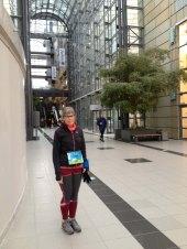 Ankommet til Scandinavian Congress Center - frisk til 1. vinterløb